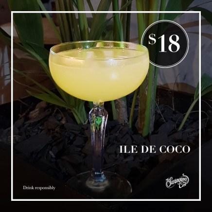 Ile de Coco Cocktail of the Month The Swinging Cat Underground Bar Sydney