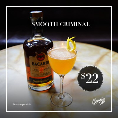 The Swinging Cat Cocktail of the Month November Smooth Criminal Rum Sherry Cocktail Bar Underground Sydney