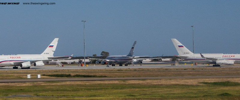 Russian Government Aircraft at Brisbane Airport for G20
