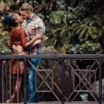 Kiss on a bridge
