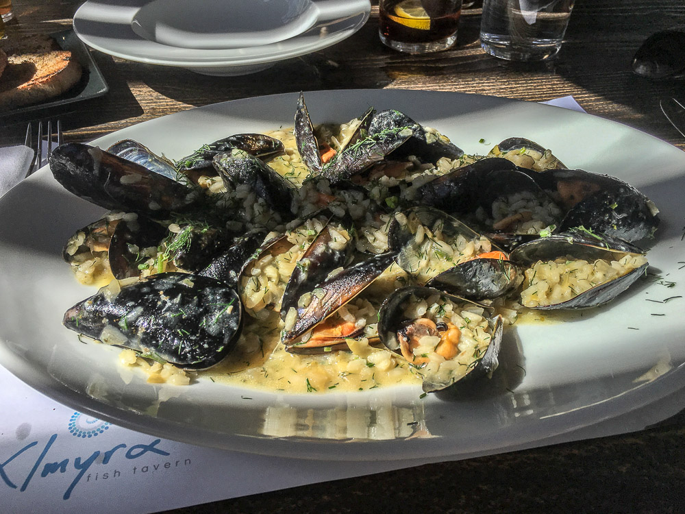 Mussels with Risotto