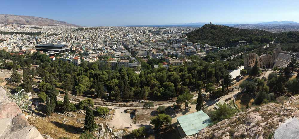View Overlooking Athens from the Acropolis