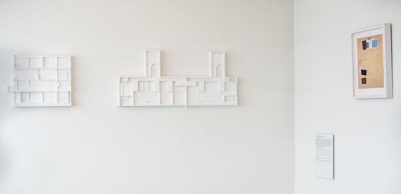 Architectural Model Display in Weissenhof Museum im Haus Le Corbusier