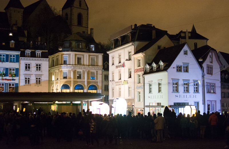 Crowd in the Streets for Morgenstraich