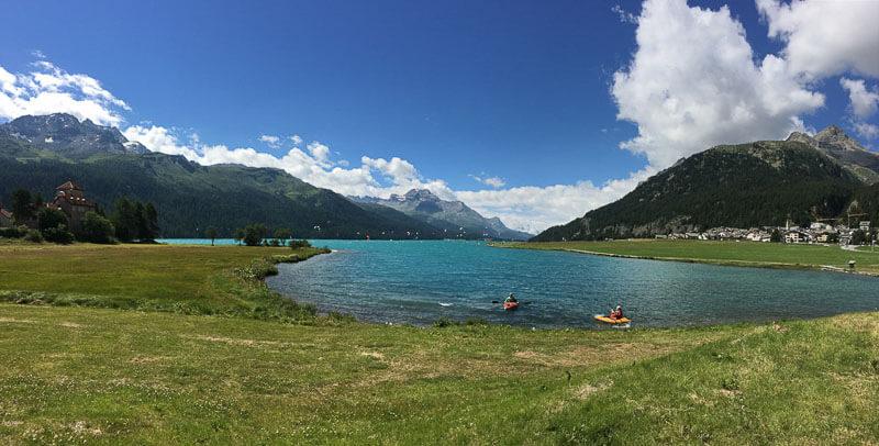Kayaking on Lake Silvaplana