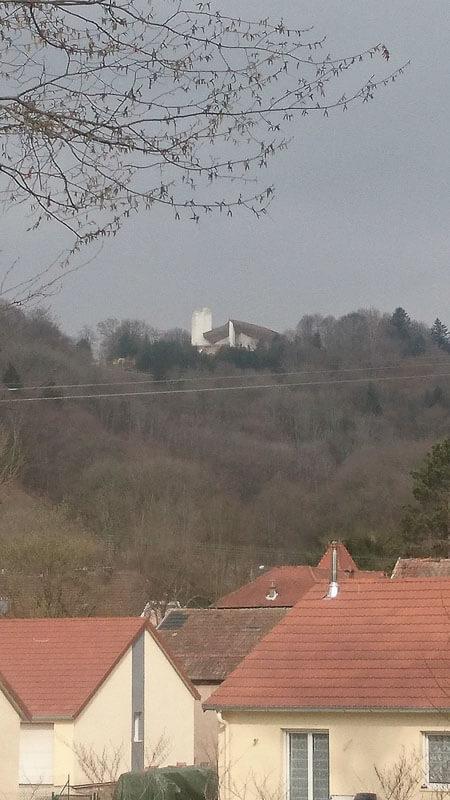 View of the Chapel from La Maison d'Hôtes du Parc