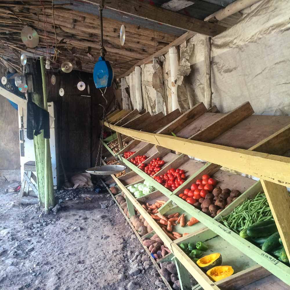 Vegetables Sold by a Roadside Vendor