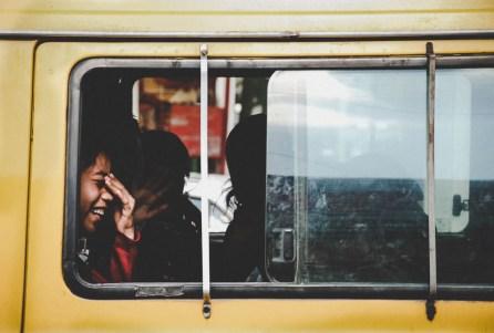 Children in Yellow School Bus in Mexico City