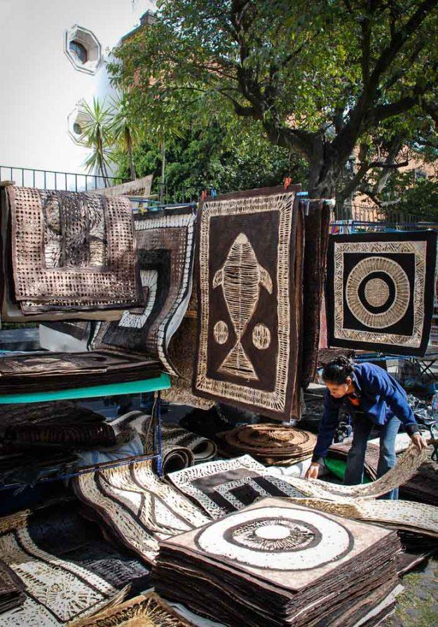 Rug Vendor in Mexico City