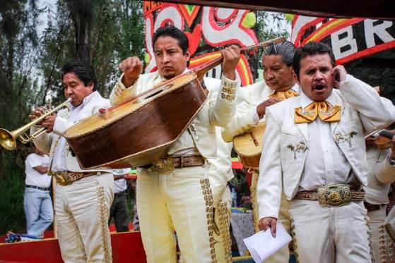 Mariachi Band at Xochimilco Mexico