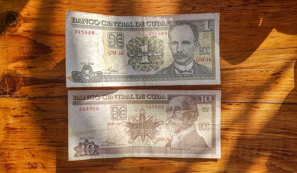 Cuban Pesos (CUP)