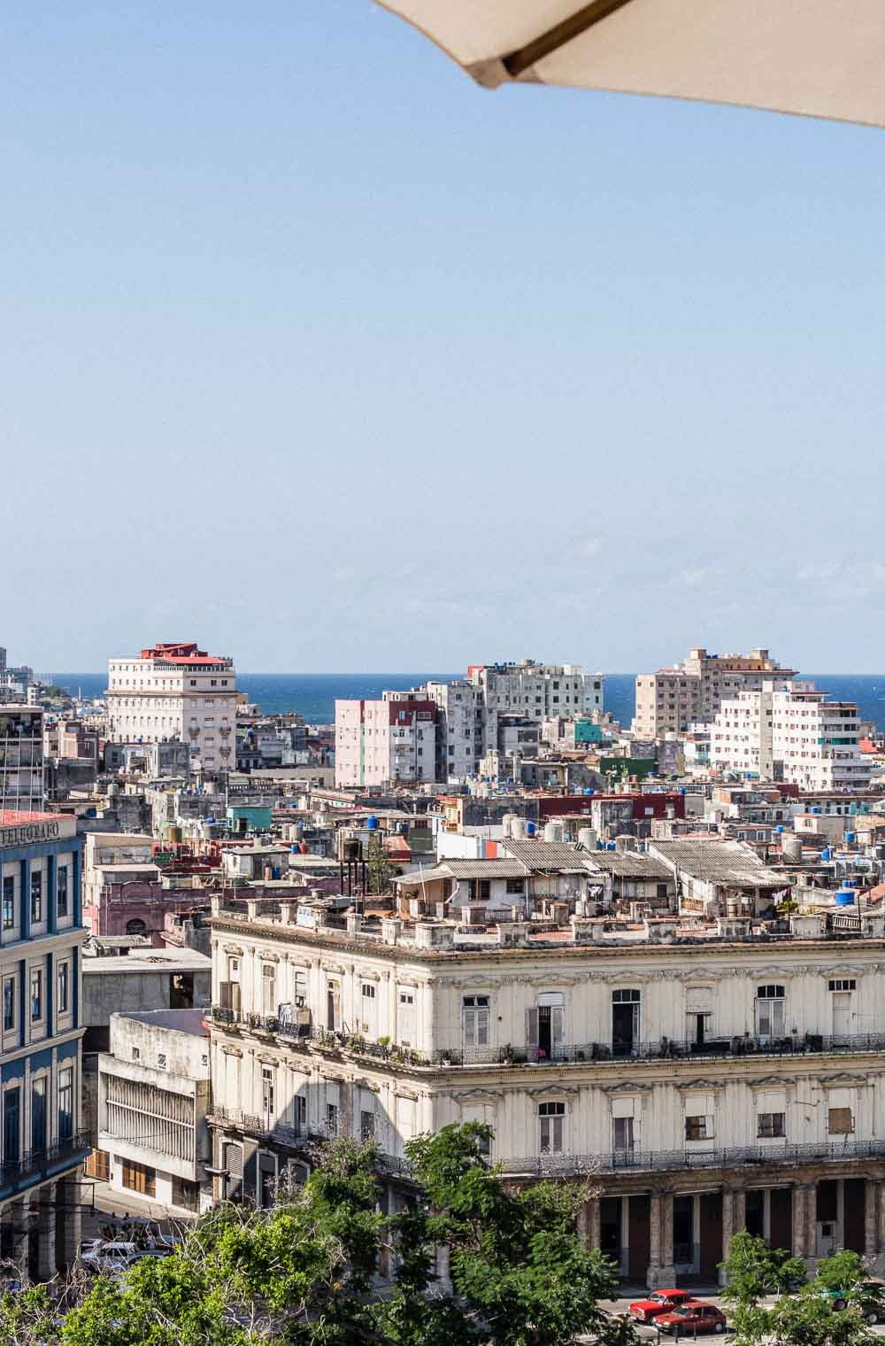 The city of Havana Cuba from a bird's eye view