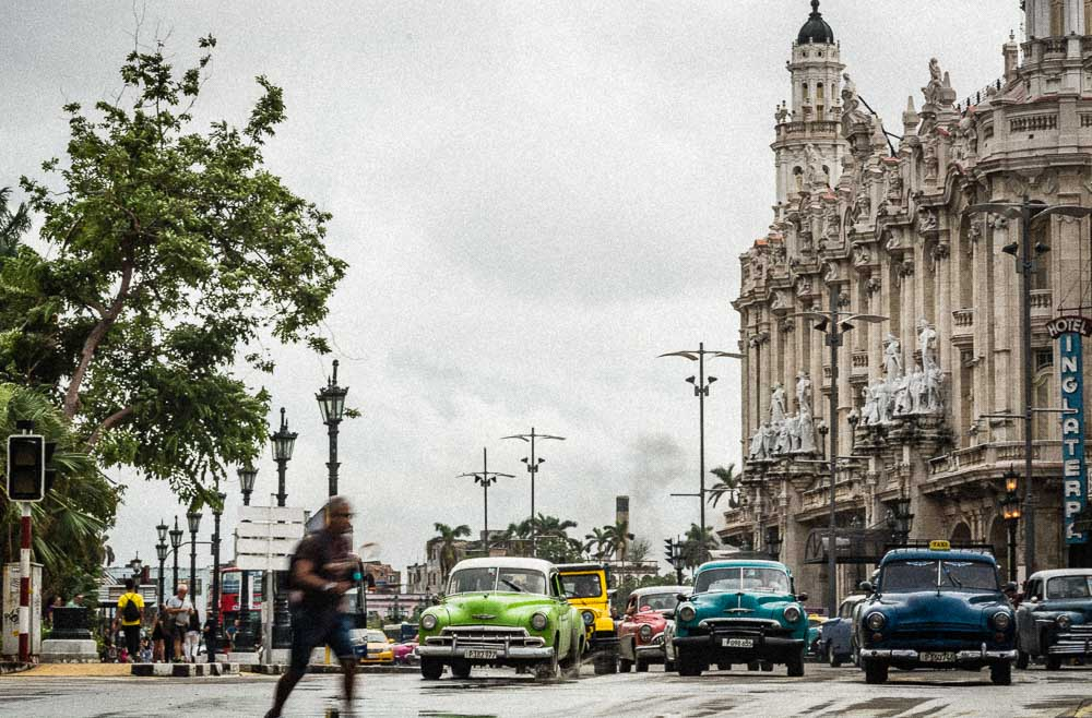 Old Cars on the streets of Havana Cuba
