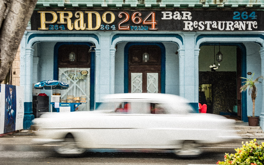Vintage Car with Vintage Architecture