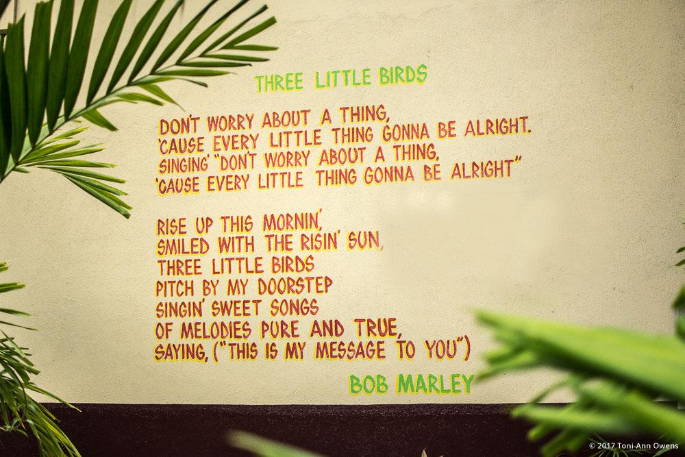 Bob Marley Lyrics at the Bob Marley Museum in Kingston Jamaica