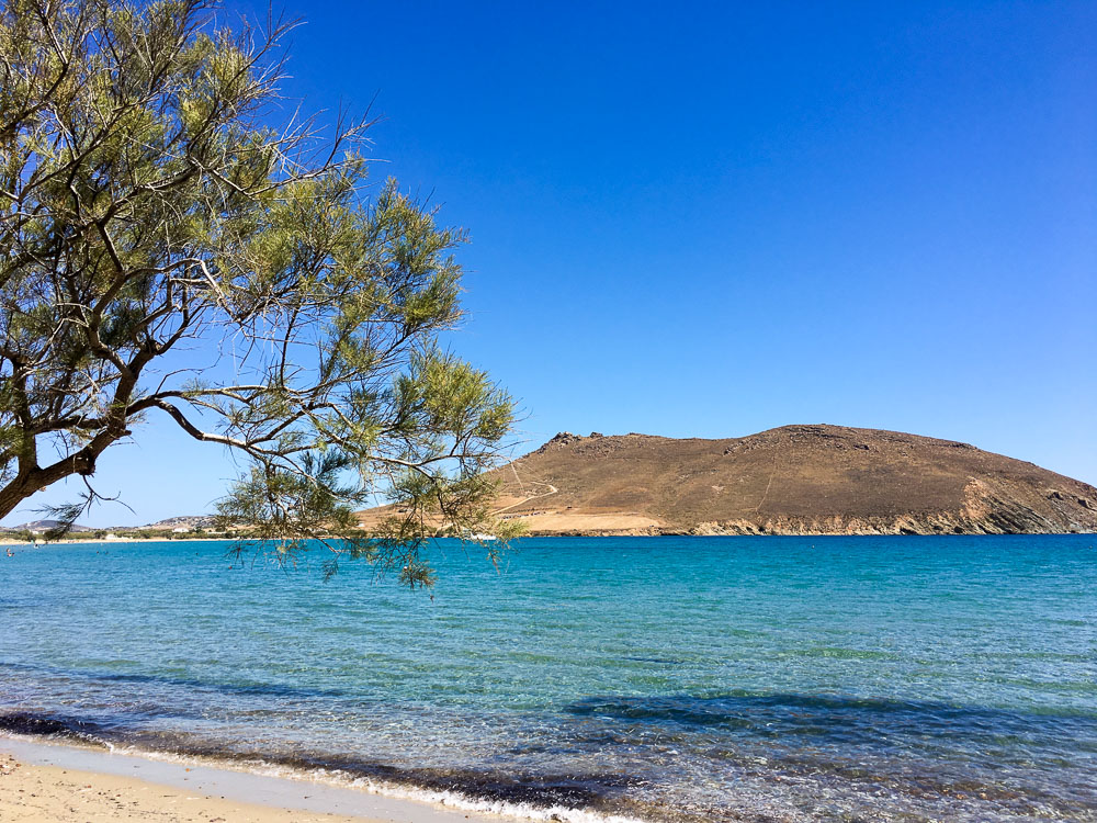Molos Beach in Paros Greece is perfect for a romantic vacation by the beach