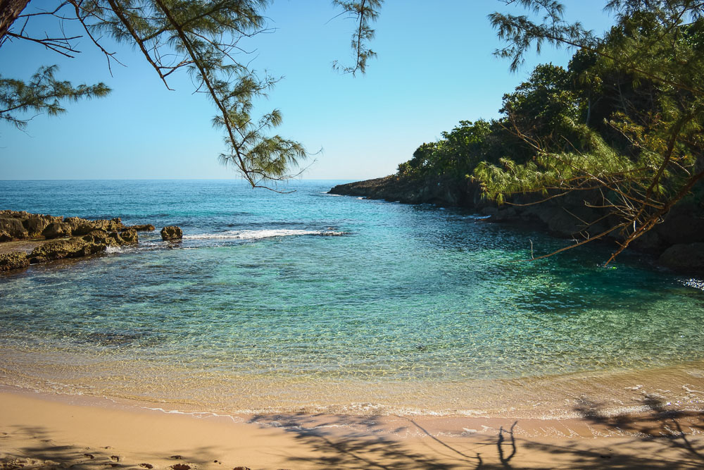 The beach at Strawberry Fields Together eco-resort in Jamaica