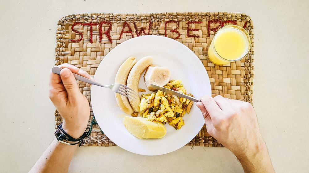 Jamaican breakfast, ackee and saltfish