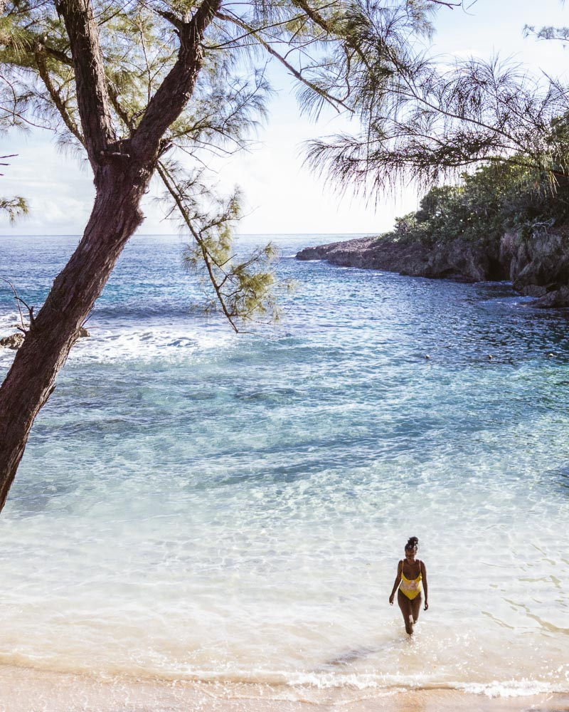 Morning Swim in the Caribbean Sea at Strawberry Fields Together Jamaica