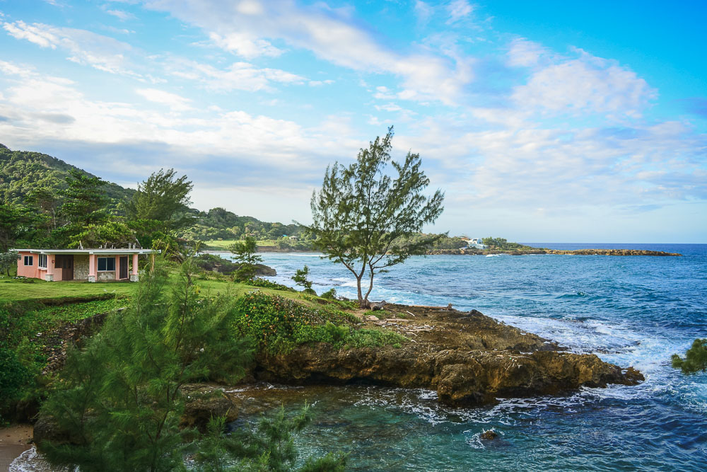 Simple cottage overlooking the sea at Strawberry Fields Together in Jamaica
