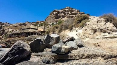 Rock Patterns at Eros Beach in Santorini