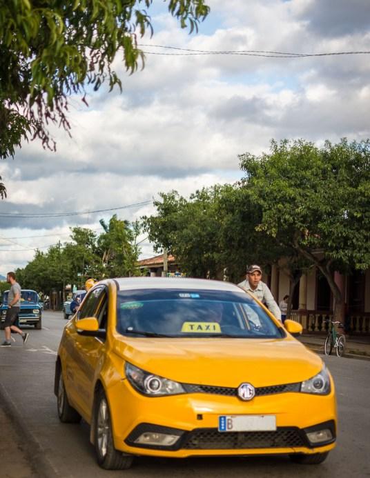 Modern Taxi in Cuba