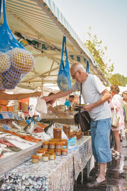 Man Shopping in the Food Market in Nice