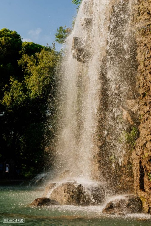 Waterfall at Castle Hill in Nice France
