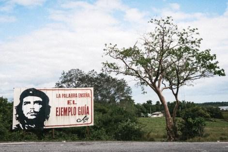 Billboard on Cuban road