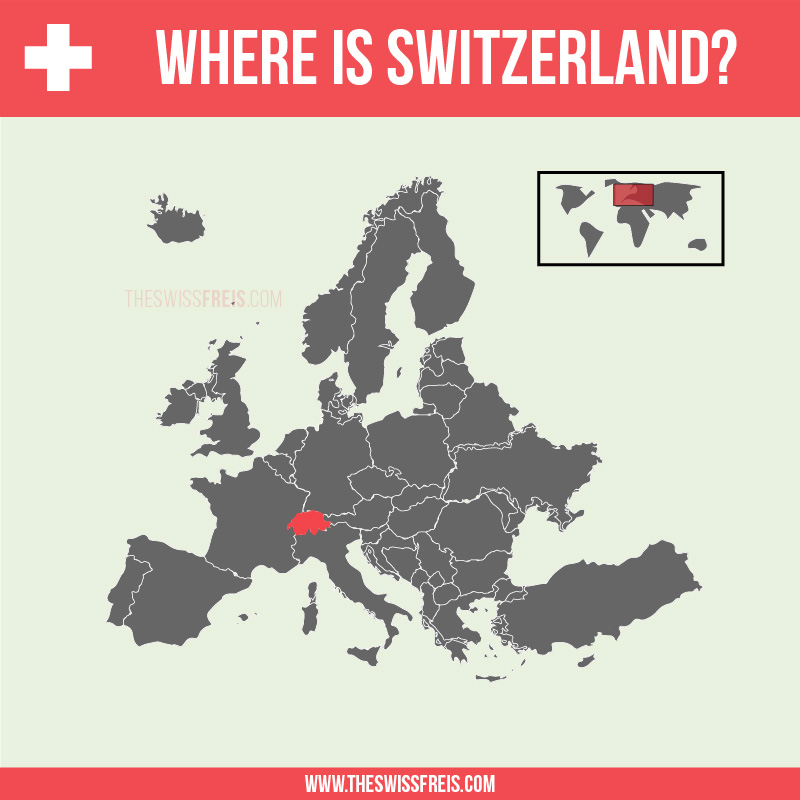 Switzerland on a Map