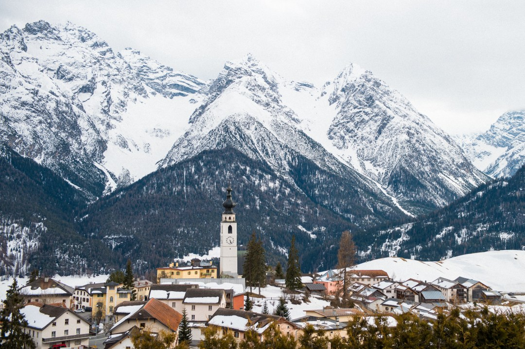 The town of Scuol in Switzerland