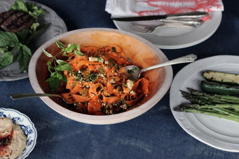 Carrot salad with feta, pistachios and raisins | www.thetableofcontents.co