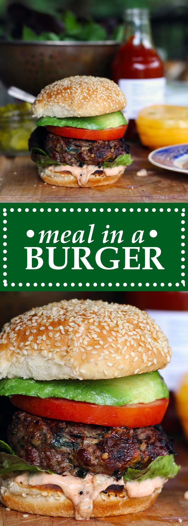 Meal in a burger | www.thetableofcontents.co