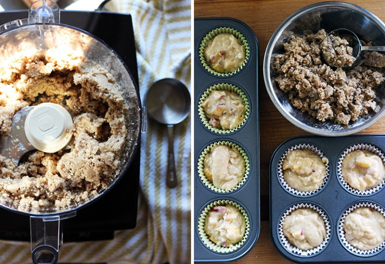 Nectarine Pecan Crumb Muffins | www.thetableofcontents.co