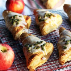 Almond Glazed Apple Raisin Turnovers | www.thetableofcontents.co