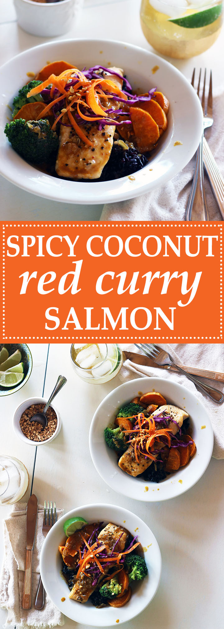 Spicy Coconut Red Curry Salmon | www.thetableofcontents.co