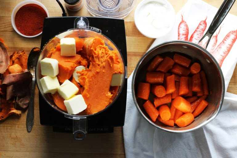 Sweet Potato Carrot Puree | www.thetableofcontents.co
