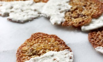 Sesame Almond Ginger Lace Cookies (GF) | www.thetableofcontents.co