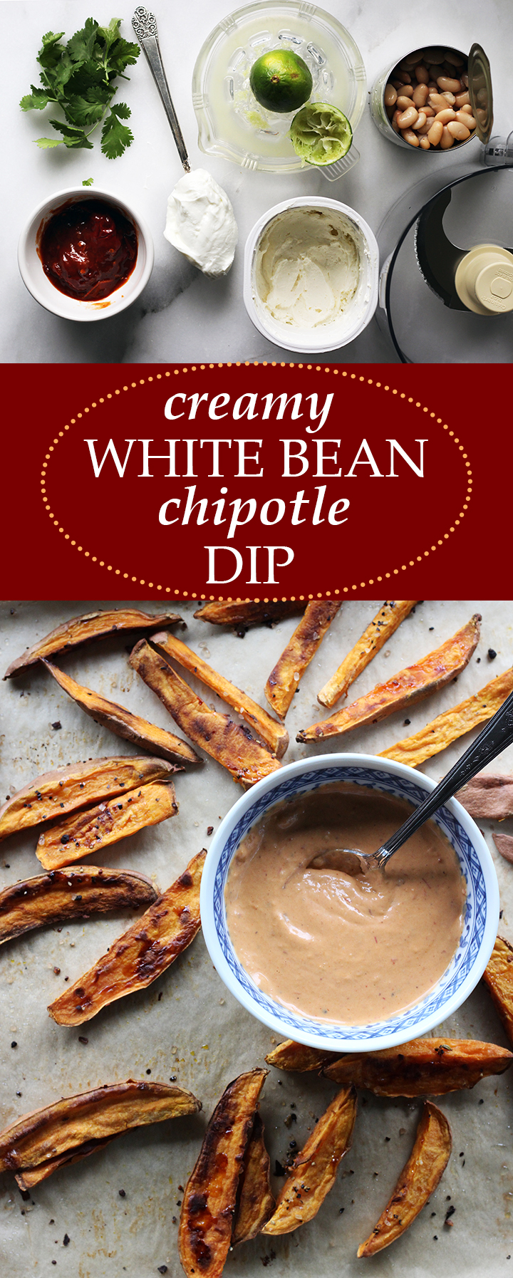 Sweet Potato Fries with Creamy White Bean Chipotle Dip | www.thetableofcontents.co