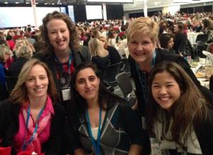 The women from Infinio enjoying the conference lunch keynote.