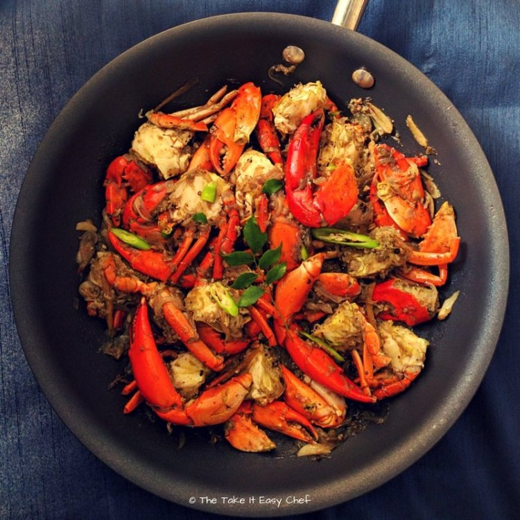Onion and Pepper Crab