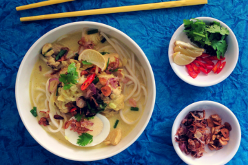Burmese Khow Suey (Curried Noodle Soup)