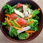 Chicken and Almond Salad with Mint-Cilantro Dressing