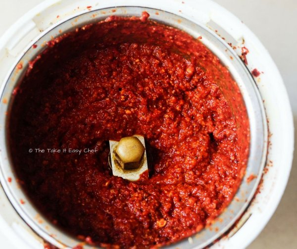 Squid ghee roast steps - Ground spice masala