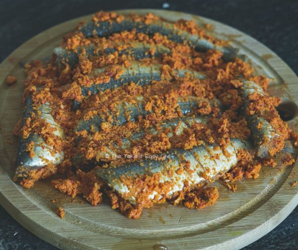 Thalassery Style Sardine Fry Steps - Sardines coated with marinade
