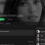 Spotify Header Template