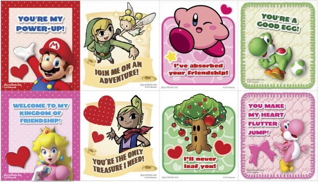 Print Out Mario Zelda Kirby And Yoshi Valentines Day