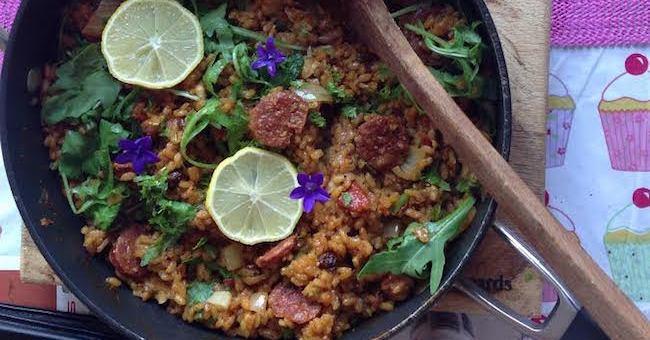 Gubbeen Chorizo, Prawn & Chicken Paella Recipe by Ethna Reynolds
