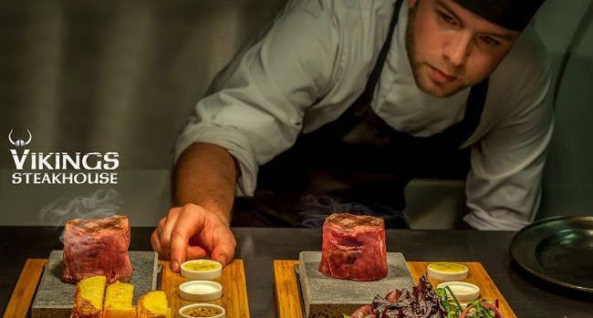 Win a 3 course dinner with a bottle of wine and 2 cocktails on arrival from Vikings Steakhouse Clontarf - CLOSED