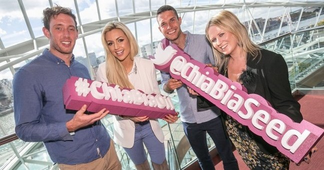 Brand Ambassador Kilkenny All Star Hurler Michael Fennelly, Rosanna Davison, 800M Olympic Hopeful Niall Tuohy and Irish Farmers Journal Columnist Nessa Robins